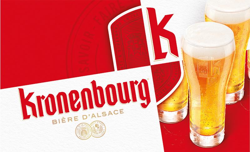 Nouvelle identité visuelle Kronenbourg